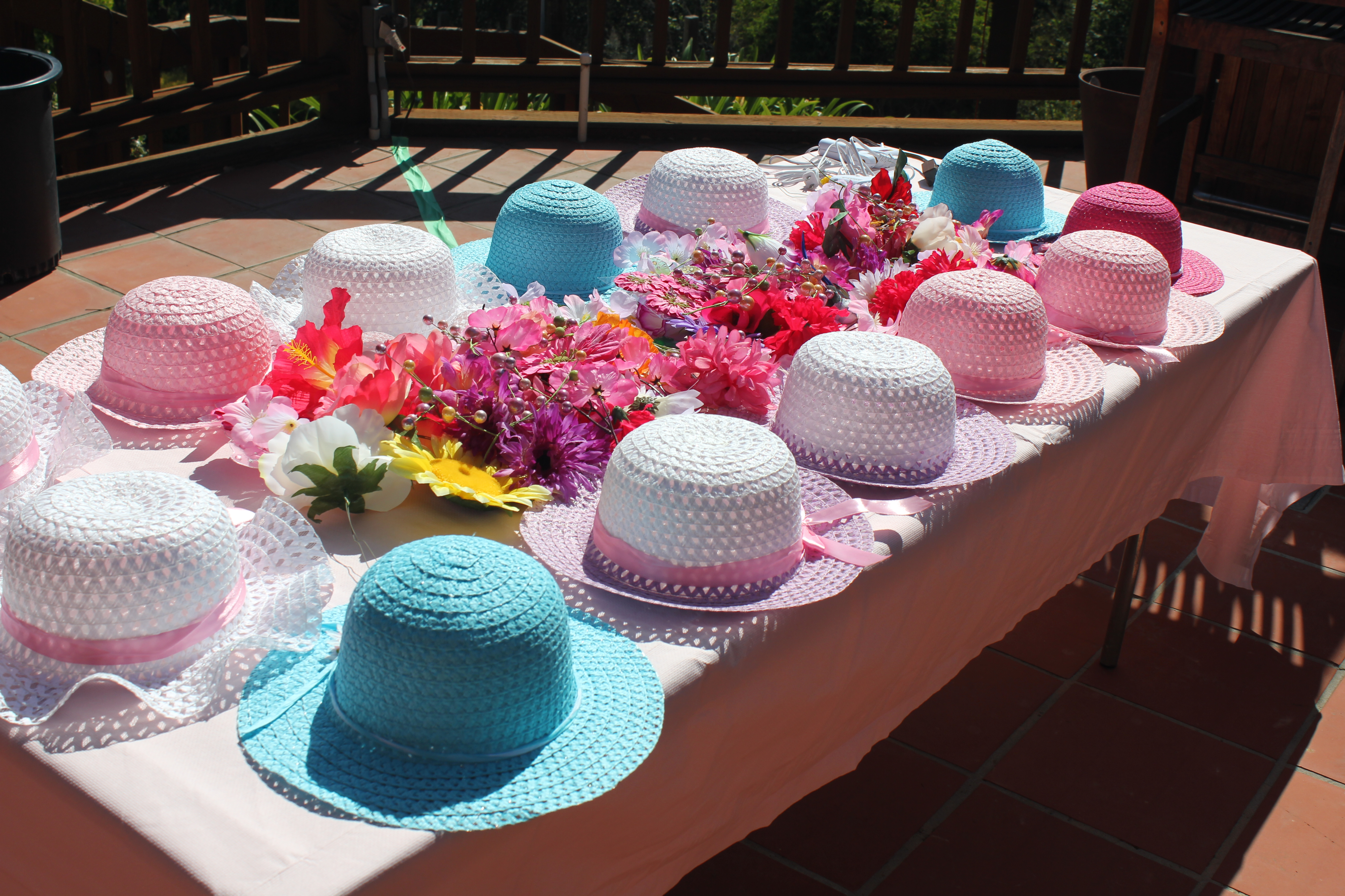 Ready to decorate fancy girl tea party hats creative for How to decorate for a tea party